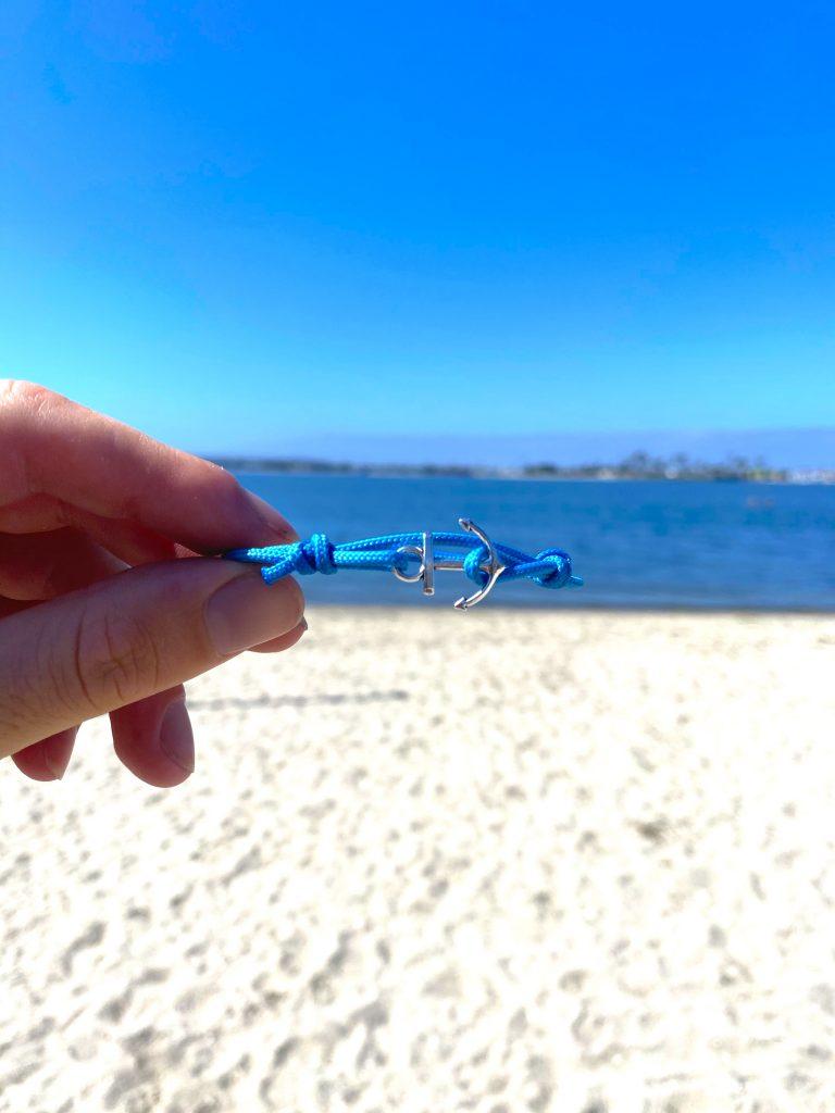 Ocean Blue Anchor bracelet